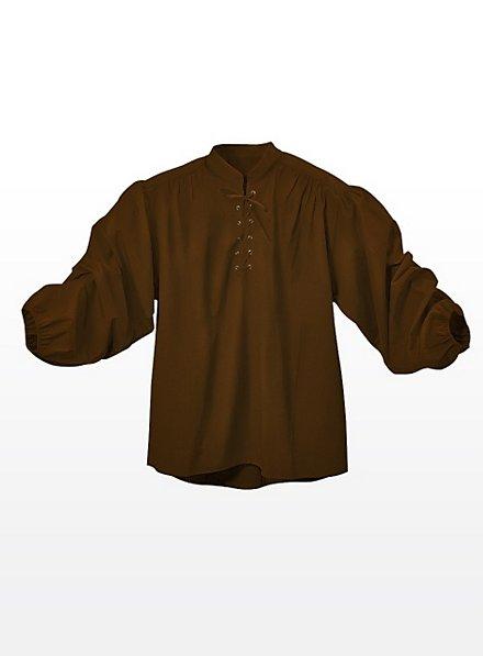 Chemise de valet marron