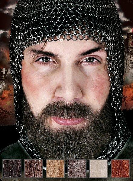 Chevalier brigand Composition de barbe professionnelle en poils véritables