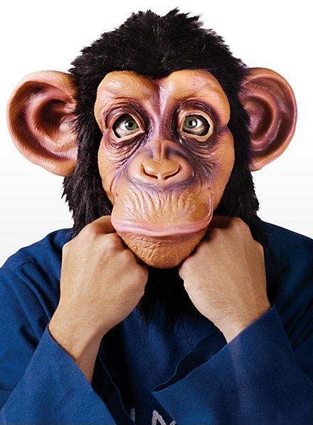 Chimpanzé classique Masque en latex et fourrure