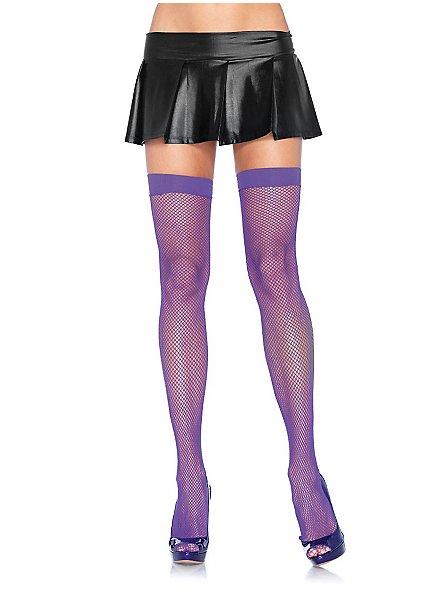 Classic fishnet stockings purple
