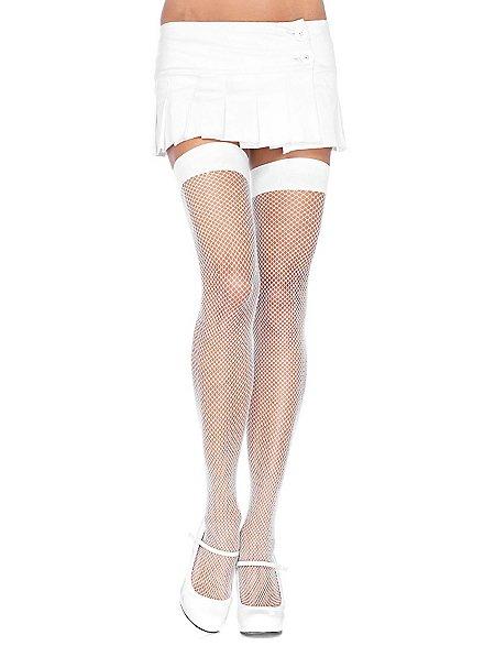 Classic fishnet stockings white