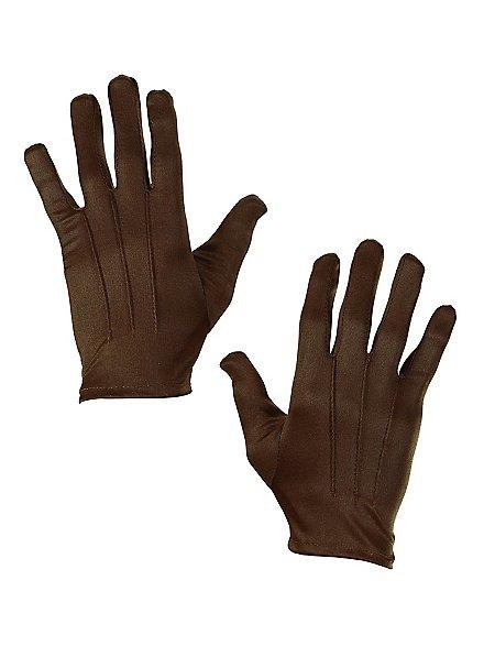 Cloth gloves brown