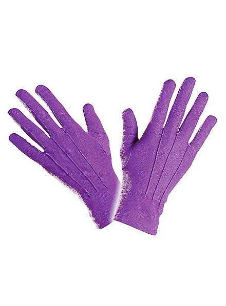 Cloth gloves purple
