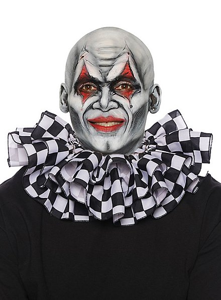 Clown collar checkerboard pattern black and white