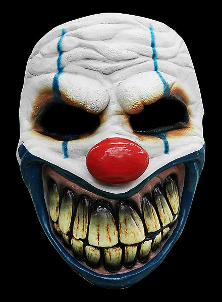 Clown Maske des Grauens aus Latex