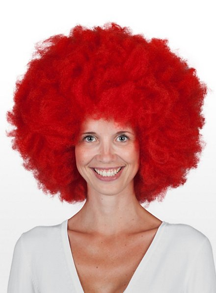 Clownsperücke rot