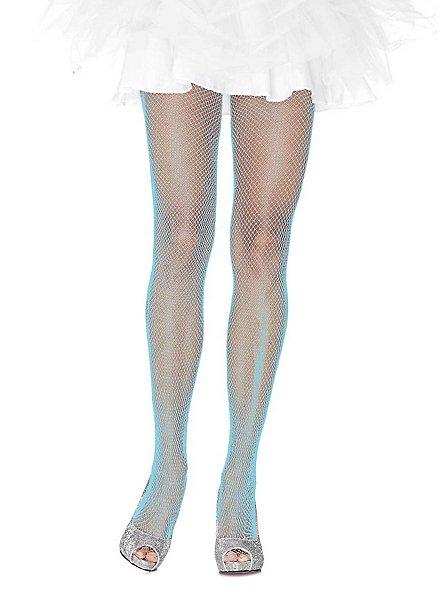 Collants résille bleu clair à paillettes