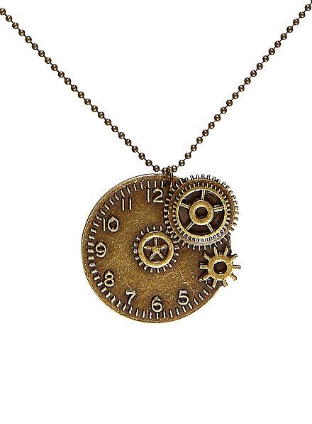 Collier steampunk horloge