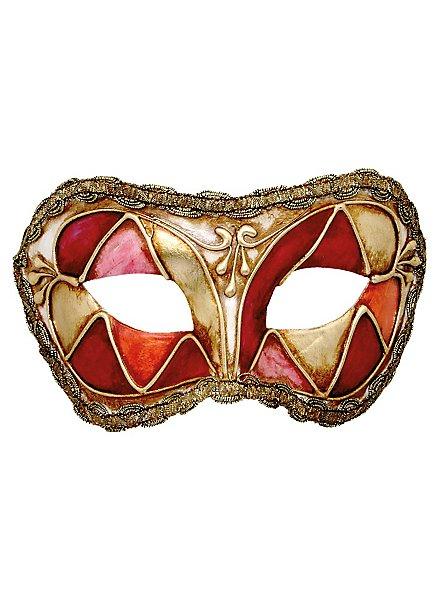 Colombina arlecchino rosso - Venetian Mask