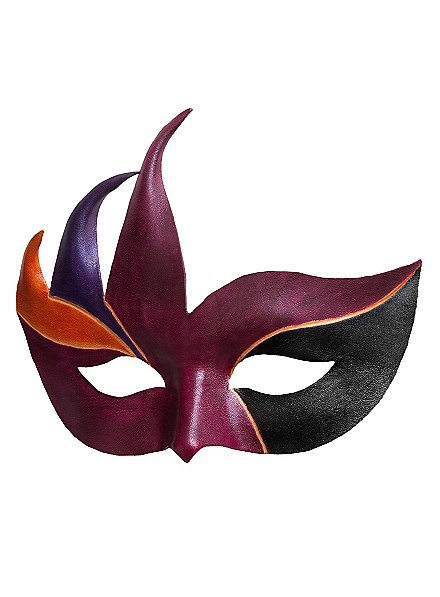 Colombina Cigno Masque en cuir vénitien