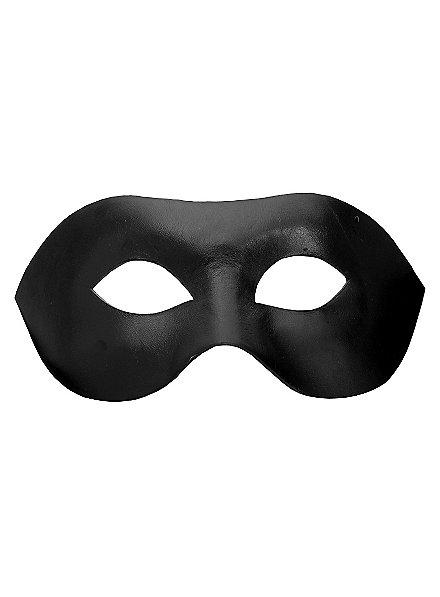 Colombina Liscia noir Masque en cuir vénitien