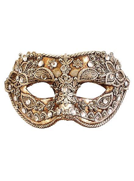 Colombina macrame argento - Venezianische Maske