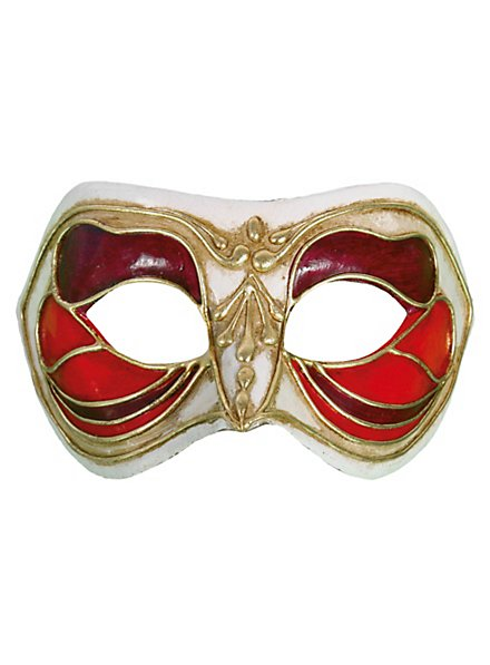 Colombina Monica rosso bianco - Venezianische Maske