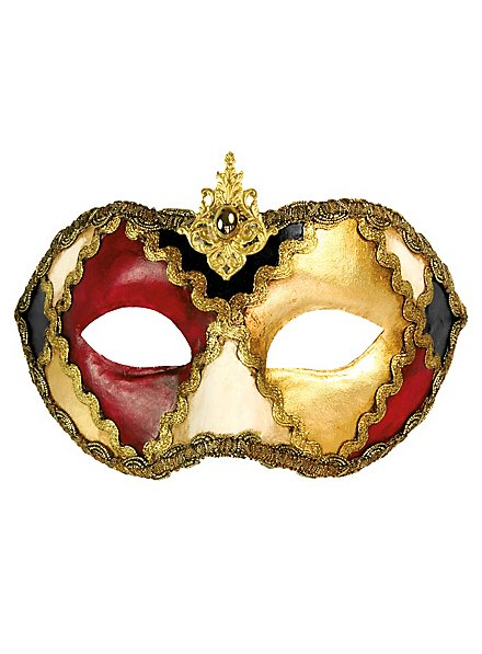 Colombina scacchi colore - masque vénitien