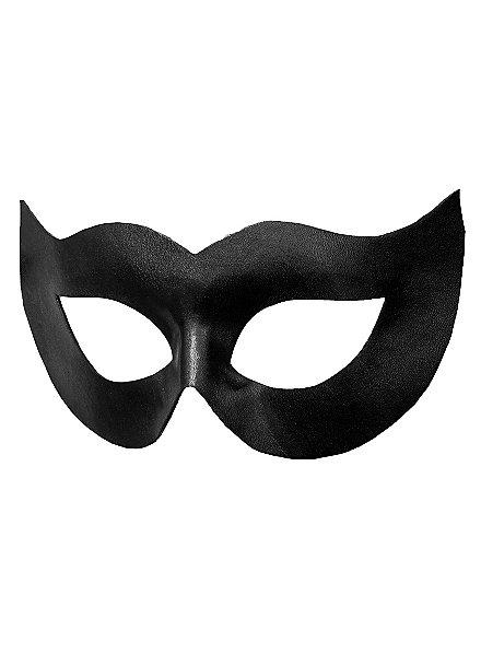 Colombina Spiona schwarz Venezianische Ledermaske