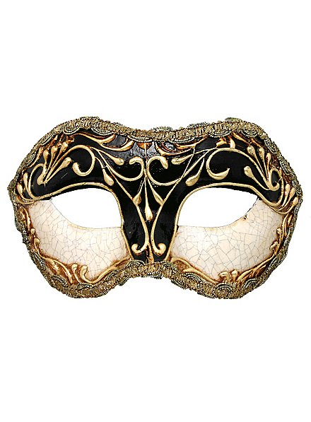 Colombina stucco craquele nera - Venetian Mask