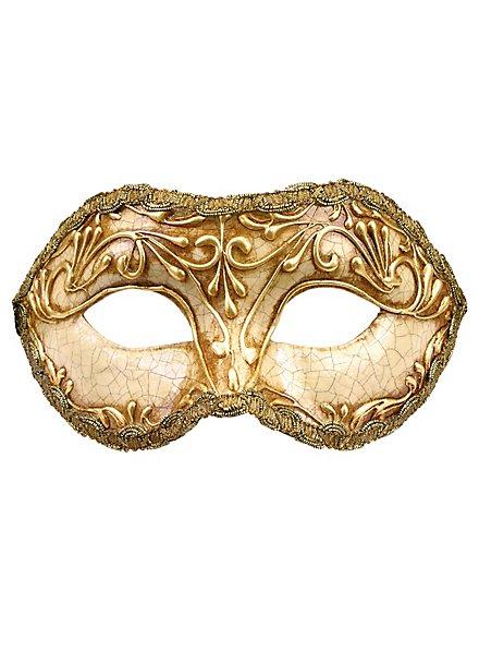Colombina stucco craquele oro - Venezianische Maske