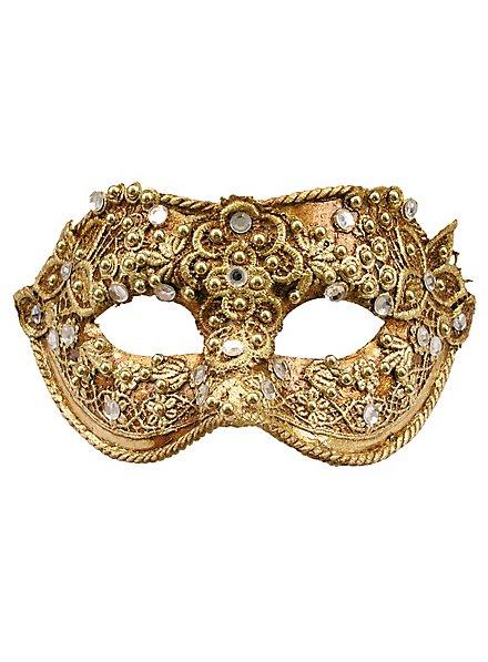 Colombine macramé or - masque vénitien