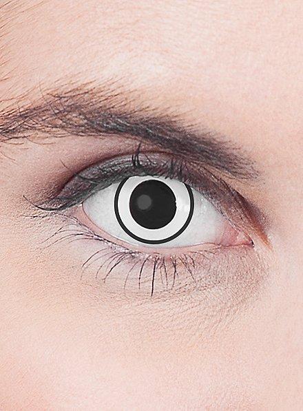 Weiße Kontaktlinsen Comic