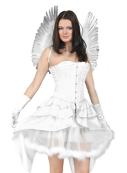 Corset with Side Skirts white