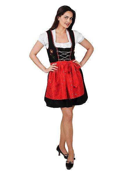 Costume de Bavaroise avec tablier rouge