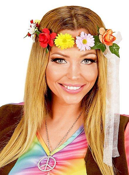 Couronne de fleurs de hippie
