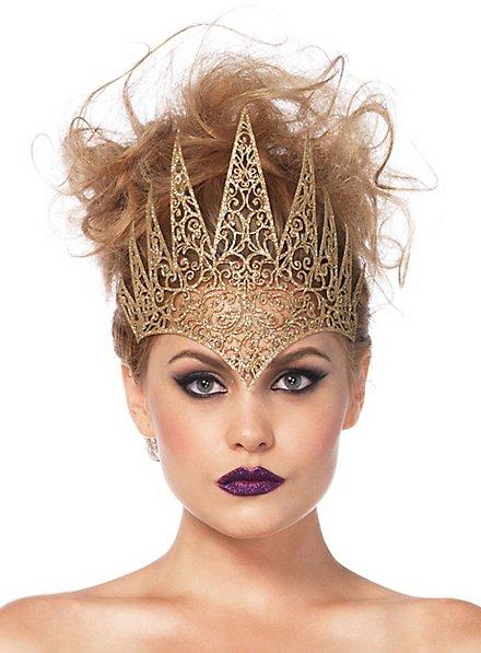 Couronne de reine maléfique dorée