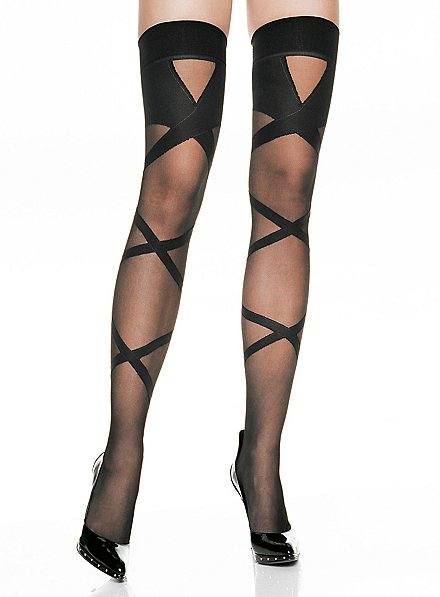 Criss-cross Stay up Stockings