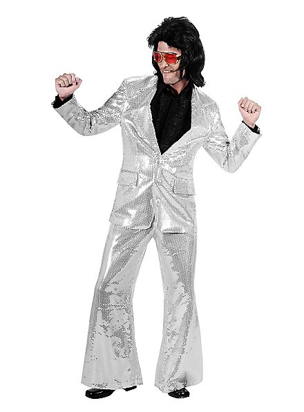 Crooner Sequined Suit silver  Costume