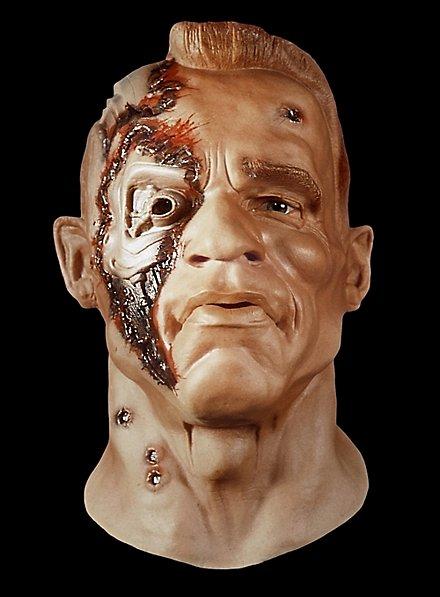 Cyborg Maske aus Schaumlatex