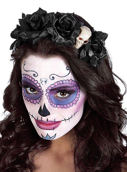 Day of the Dead Hairband Skull