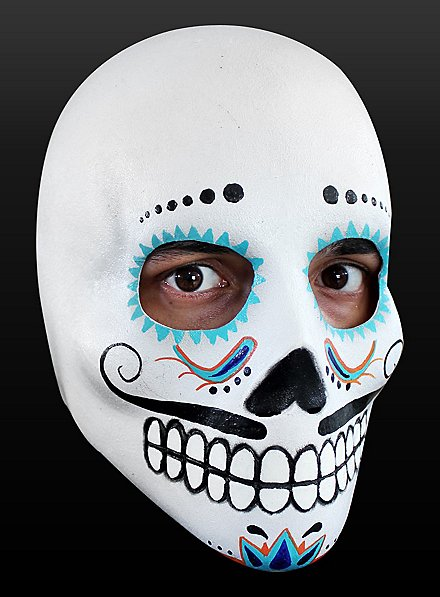 Day of the Dead Mask Cavalier Made of Latex