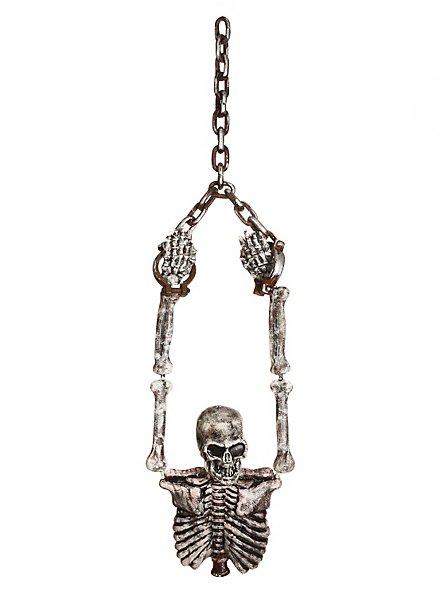 Décoration à pendre Torse de squelette enchaîné