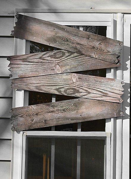 Décoration d'Halloween Fenêtre barricadée