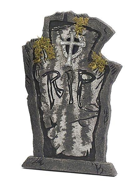 Décoration d'Halloween Pierre tombale RIP couverte de mousse