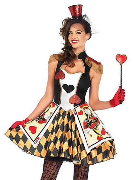 Déguisement de dame de cartes à jouer sexy