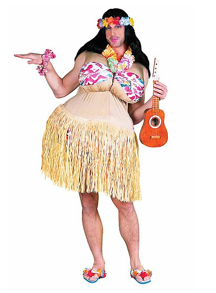 Déguisement de grosse danseuse de Hula