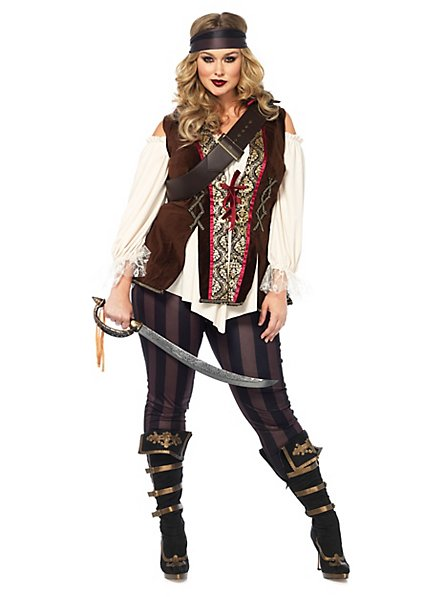 Déguisement de miss capitaine pirate XXL