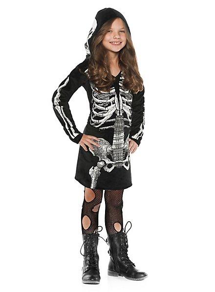 Déguisement robe à capuche Squelette pour enfant