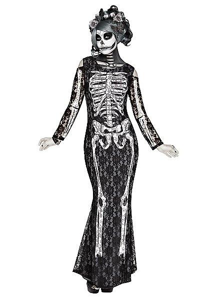 Déguisement robe de squelette de La Mort