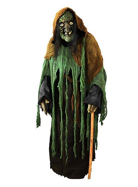 Dégusiement de sorcière ridée avec masque