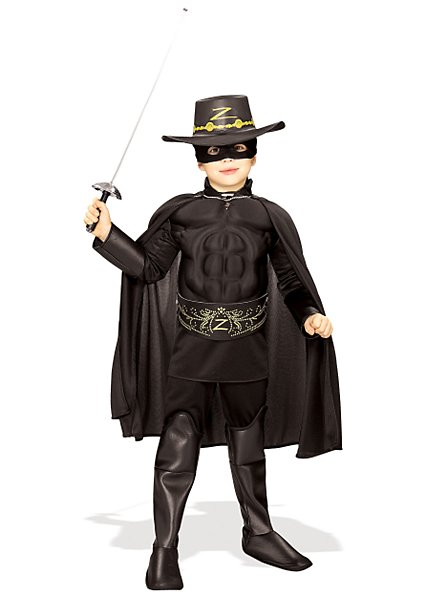 Deluxe Muscle Chest Zorro Child Costume