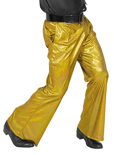 Disco glitter men pants gold