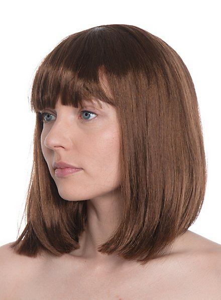 Diva marron Perruque