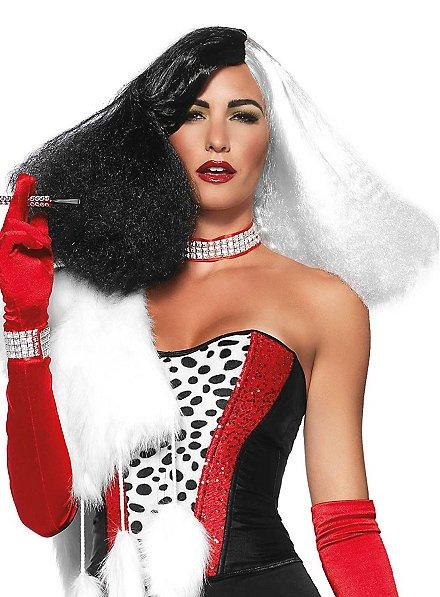 Diva Wig black & white