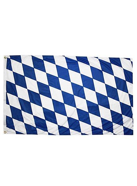 Drapeau bavarois à losanges blancs et bleus petit