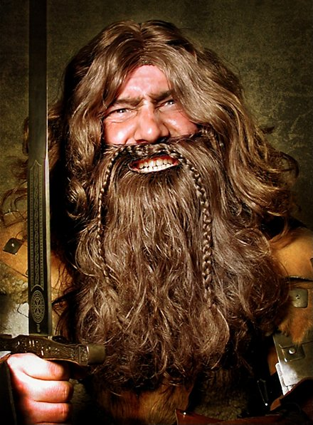 Dwarf full beard with wig