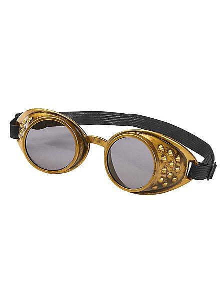 Einfache Steampunk Brille bronze