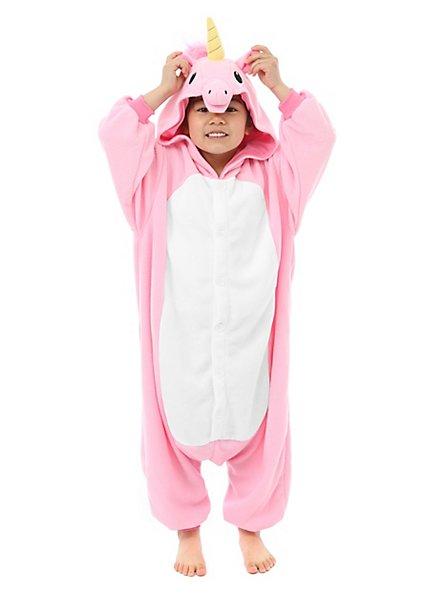 Einhorn Kigurumi Kinderkostüm pink