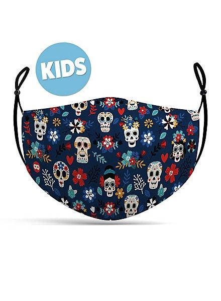 Fabric mask for children Dia de los Muertos